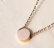 Korean Drama The Heirs Inheritors Rachel's Little Bean Necklace Rose Gold Plated