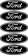 5 x Ford logo Brand car vinyl sticker decal fiesta focus mondeo Badge