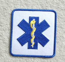 saint john ems paramedic ambulance sew on patch star of life staf shield 3.5""