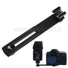 Flexible 1/4'' Soporte Flash Montaje Trípod Braket Brazo Para Canon Nikon Cámara