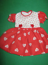 "VALENTINE'S DAY DRESS - Made to fit 16"" VINTAGE TONI DOLL-P91"