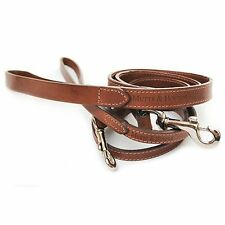 £15 OFF! Genuine Mutts and Hounds brown Slim Leather dog Lead