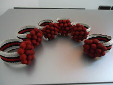 Beautiful berry napkin rings set of 6 serviette holders Christmas table