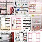 Jewelry Organizer Hanging Holder Stable Display Iron Rack Wall Earring Necklace