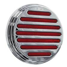"Pair of 4"" Round Flatline Red LED 49 Diodes Peterbilt, Kenworth, Freightliner,"