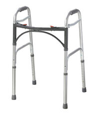 "Drive Medical Deluxe Two Button Folding Walker 10200-1 Walkers 15.5"" x 22"" x 32"""