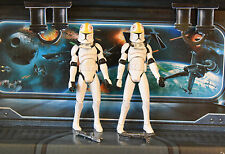 STAR WARS FIGURE ANIMATED CLONE WARS CLONE PILOT TROOPER LOT ARMY X2