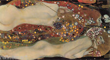 Gustav Klimt Water Serpents II Oil Painting repro 24''x48''
