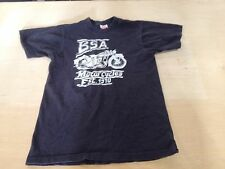 Vintage BSA Motorcycle Black T Shirt 1980s J&T Specialties Tennessee Defunct
