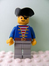 LEGO Minifig pi005 @@ Pirate Blue Jacket, Triangle Hat 1696 6254 6279 6285