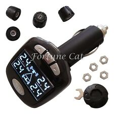 Stock In USA! SPY Car TPMS Tire Pressure Monitor System With 4 External Sensors
