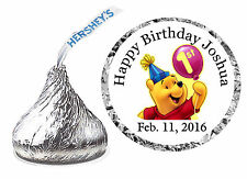 216 WINNIE THE POOH 1st First BIRTHDAY PARTY FAVORS HERSHEY KISS KISSES LABELS