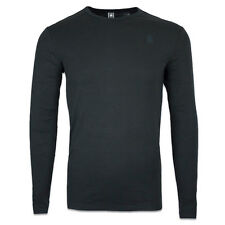 G-STAR T-SHIRT - LONG SLEEVE CREW NECK TEE - SLIM FIT - BLACK/WHITE/GREY/BLUE
