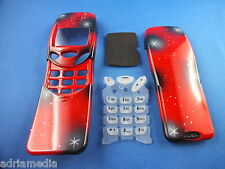Front Back Cover Tastatur Nokia 3210 Gehäuse Handy Schale Neu Rot Housing Keypad
