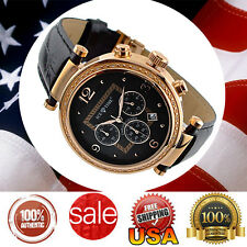 ** USA SELLER ** NEW Genuine Diamond Rose Gold Plated Icetime Chronograph watch.