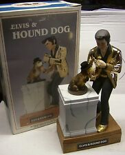 RARE   ELVIS PRESLEY HOUND DOG MUSICAL DECANTER with Original Box-books at $650.