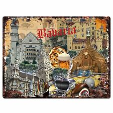 PP0790 Babaria Classic Car Chic Plate Sign Home Shop Restaurant Cafe Decor Gift