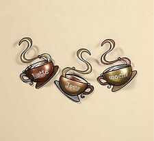 Wall Art Metal Decoration Coffee Tea Cup Home Mug Java House Kitchen Latte Mocha
