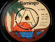 """THE ALLNITERS - TAKING A CHANCE ON LOVE  7"""" VINYL"""