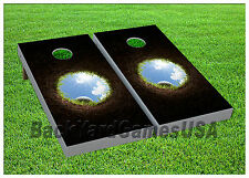 Cornhole Golf Hole in One Boards BEANBAG TOSS GAME w Bags Set