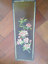 OLD DECORATIVE DOOR PLATE WITH FLORAL DESIGN