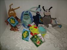 5 NEW With Tags  BUGS LIFE BEAN BAG PLUSH- HEIMLICH FRANCIS HOPPER ROLL & ROSIE