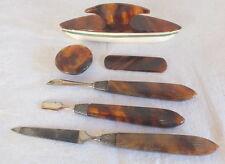 accessoires ustensiles manucure bakélite 6 pièces manicure polissoir