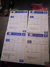 Fiches Descriptives Techniques ESSO anciennes Simca 1000 1100 1501 1301 1200S