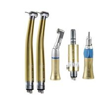 Dental High Speed Handpiece Turbine + Low Speed Contra Angle air Motor 4 Hole