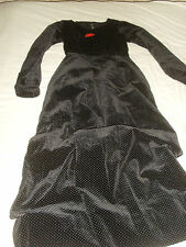 Antique - Vintage Black Velvet  Dress