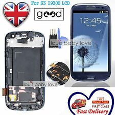 For Samsung Galaxy S3 i9300 Blue LCD Display Digitizer Touch Screen Replacement