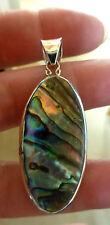 Magnifique pendentif moderne en argent  925  avec abalone  poinçon