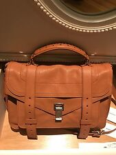 Proenza Schouler PS1 Medium LUX Dune saddle brown Leather SILVER HW 1870.00  NWT