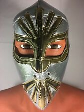SILVER/GOLD MISTICO WRESTLING-LUCHADOR MASK!!Awesome Design!!GREAT FOR HALLOWEEN