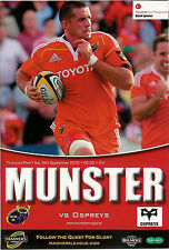 Munster v Ospreys Magners League 18 Sep 2010 Limerick RUGBY PROGRAMME