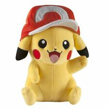 Tomy Pokemon Large Plush Pikachu With Ash Hat Soft Toy