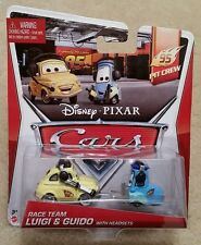Disney Pixar Cars 2 • Race Team Luigi Guido Headsets • 2014 95 Pit Crew Cardback