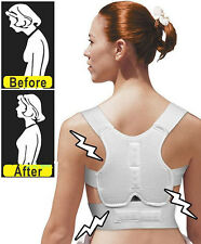 HOT Adjustable Power Back Support Correction Belt Posture Magnetic Shoulder