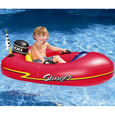 "48"" INFLATABLE SPEEDBOAT Lake Beach Pool Swimming Float Raft Boat 4+ yrs 9013"