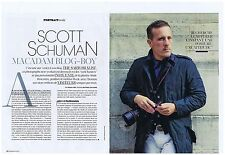 COUPURE DE PRESSE CLIPPING 2013 SCOTT SCHUMAN Macadam Blog-Boy (4 pages)