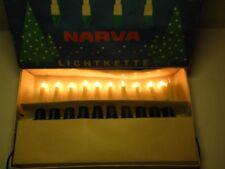 Ancienne Narva Guirlande lumineuse 10 pièces DDR Éclairage du sapin de Noël