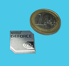 NVIDIA GEFORCE  METALISSED CHROME EFFECT STICKER LOGO AUFKLEBER 18x18mm [033]