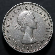 New Zealand 1957 sixpence without shoulder strap RARE  (3181952)