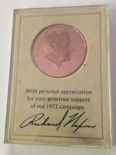1972 Richard Nixon Re-election Campaign Proof Franklin Mint Bronze Medal