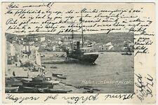 Croatia, Lussinpiccolo, Mali Losinj, Harbour and Town Scene with a Ship, Old Pc.
