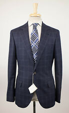 New BRUNELLO CUCINELLI Blue Cashmere Blend 3/2 Button Suit Size 46/36 R $5440