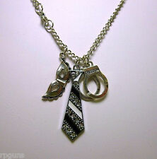 CHARM NECKLACE Inspired by 50 Shades of Grey Christian Gray SOG Trilogy Handcuff