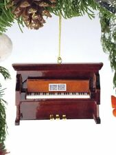 "Realistic BROWN UPRIGHT PIANO Christmas Ornament, 3"" Tall, by Broadway Gifts"