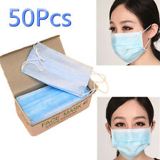 50Pcs/lot Disposable Surgical Face Mask Anti-Dust Anti-smog Ear Loop Mouth Mask