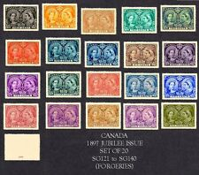 Canada Jubilee Issue Set of 20 Sg121-140 (forgeries)